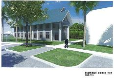 Abiaki Tribal Historic Preservation Office Rendering - Northwest Corner View