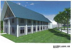 Abiaki Tribal Historic Preservation Office Rendering - Southwest Corner View